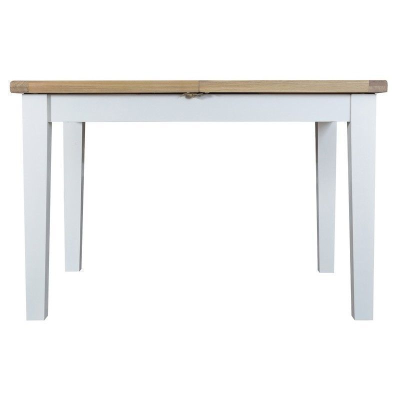 Lighthouse Oak Top Butterfly Table (1.2m - 1.65m) - White