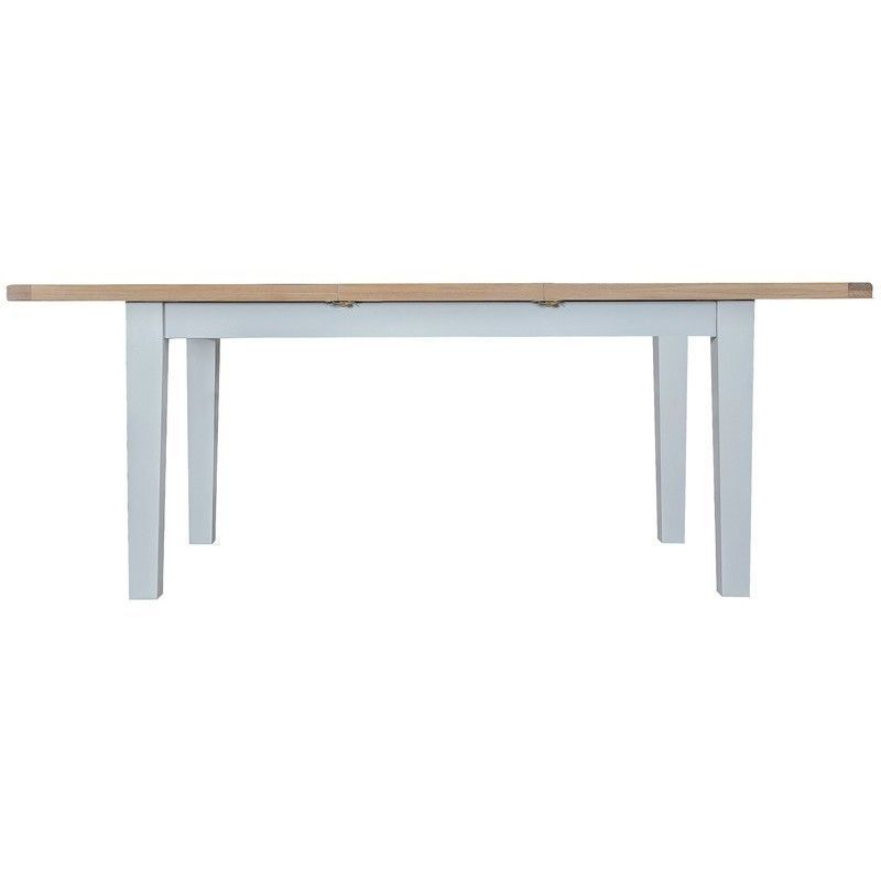 Lighthouse Oak Top Butterfly Table (1.6m - 2.1m) - Grey