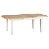See more information about the Lighthouse Oak Top 1.6m - 2.1m Extending Dining Table White