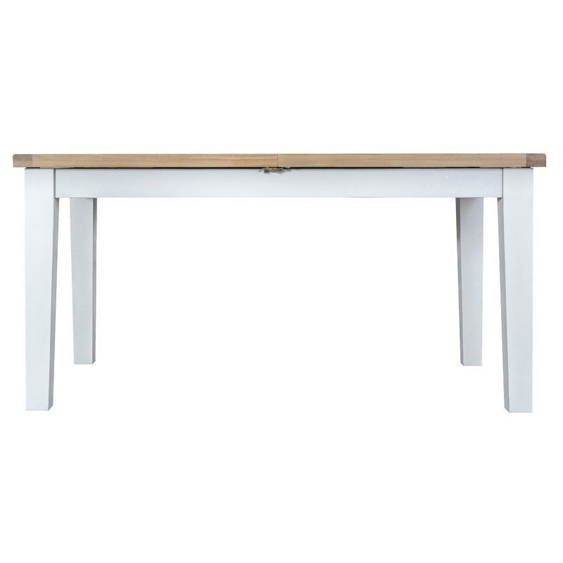 Lighthouse Oak Top Butterfly Table (1.6m to 2.1m) - White