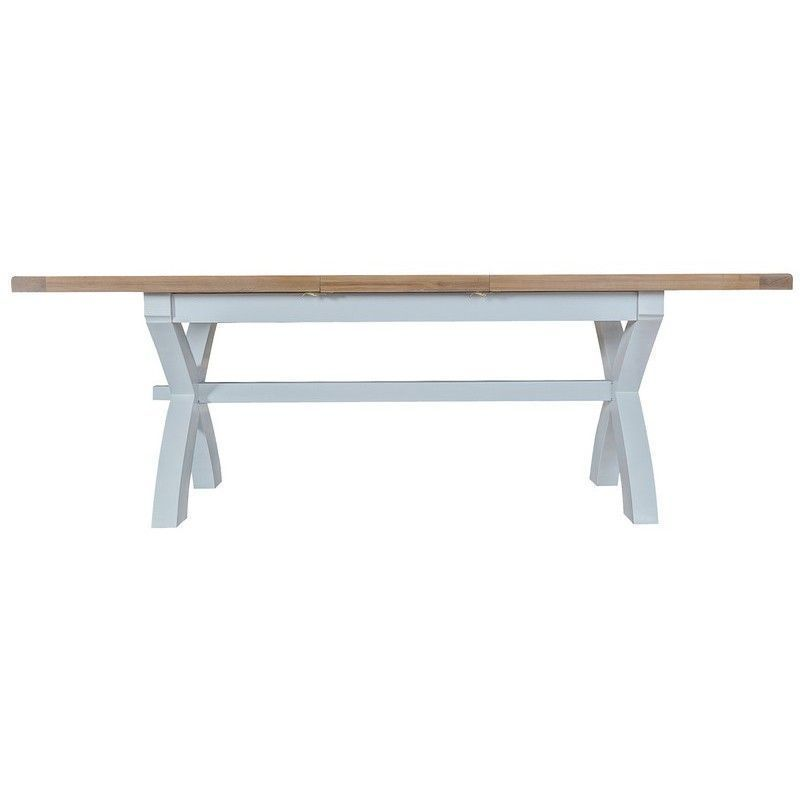 Lighthouse Oak Top Extending Table (1.8m - 2.3m) - Grey