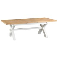See more information about the Lighthouse Oak Top 1.8m - 2.3m Extending Dining Table White