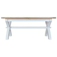 See more information about the Lighthouse Oak Top Extending Table (1.8m to 2.3m) - White
