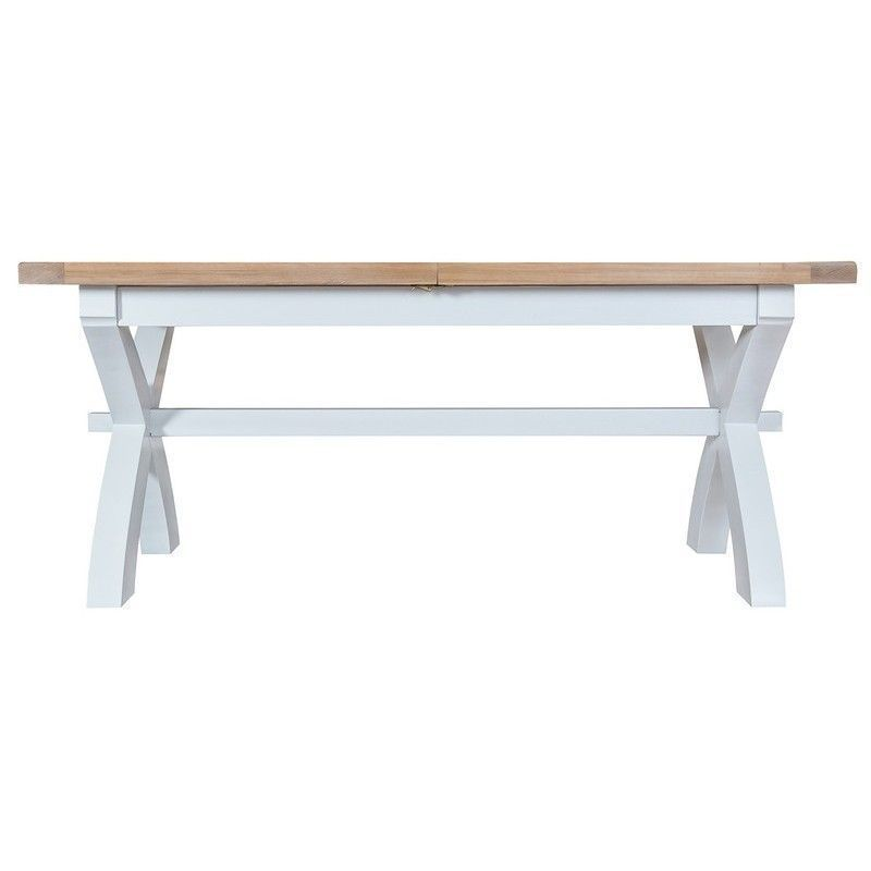 Lighthouse Oak Top Extending Table (1.8m to 2.3m) - White