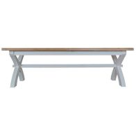 See more information about the Lighthouse Oak Top 2.5m Cross Extending Table - Grey