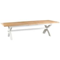 See more information about the Lighthouse Oak Top 2.5m - 3m Extending Dining Table White