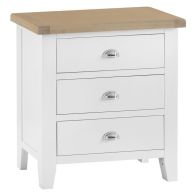 See more information about the Lighthouse Oak 3 Drawer Chest White