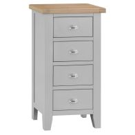 See more information about the Lighthouse Grey & Oak Narrow Chest Of 4 Drawers