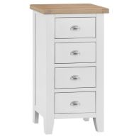 See more information about the Lighthouse Oak 4 Drawer Narrow Chest White