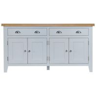 See more information about the Lighthouse Sideboard Grey & Oak 4 Door 2 Drawer