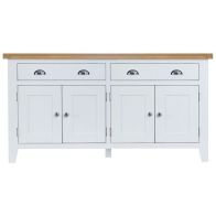 See more information about the Lighthouse Oak 4 Door 2 Drawer Sideboard White