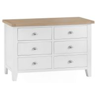 See more information about the Lighthouse White & Oak Chest Of 6 Drawers
