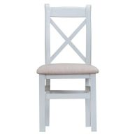 See more information about the Lighthouse Oak Top Cross Back Dining Chair Grey