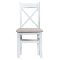 See more information about the Lighthouse Oak Cross Back Dining Chair White