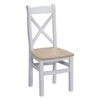 See more information about the Lighthouse Cross Back Dining Chair Grey & Oak