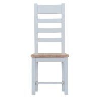 See more information about the Lighthouse Oak Top Ladder Back Dining Chair Grey