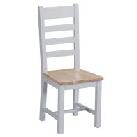 See more information about the Lighthouse Ladder Back Dining Chair Grey & Oak