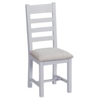 See more information about the Lighthouse Ladder Back Dining Chair Grey & Oak With Fabric Seat
