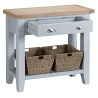 See more information about the Lighthouse Console Table Grey & Oak 1 Shelf 1 Drawer
