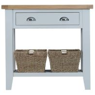 See more information about the Lighthouse Oak Top 1 Drawer Console Table - Grey