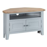 See more information about the Lighthouse Corner TV Unit Grey & Oak 2 Door 1 Shelf