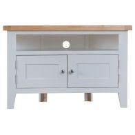 See more information about the Lighthouse Oak Top 2 Door Corner TV Unit - Grey