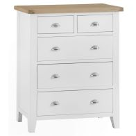 See more information about the Lighthouse Oak 5 Drawer Large Chest White