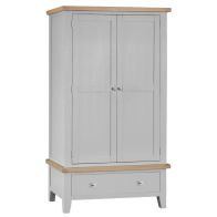 See more information about the Lighthouse Large Wardrobe Grey & Oak 2 Door 1 Drawer