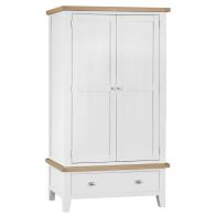 See more information about the Lighthouse Oak 2 Door 1 Drawer Large Wardrobe White