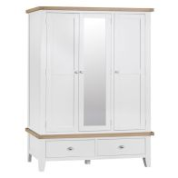 See more information about the Lighthouse Oak 3 Door 2 Drawer Large Wardrobe White
