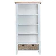 See more information about the Lighthouse Oak Top Large Bookcase White