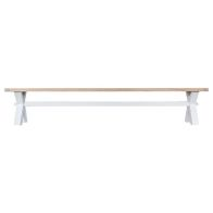 See more information about the Lighthouse Oak Top Large Dining Bench White