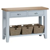 See more information about the Lighthouse Console Table Grey & Oak 1 Shelf 2 Drawer