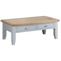 See more information about the Lighthouse Large Coffee Table Grey & Oak 2 Drawer