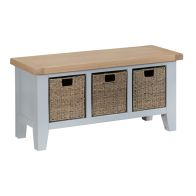 See more information about the Lighthouse Hall Bench Grey & Oak 3 Drawer
