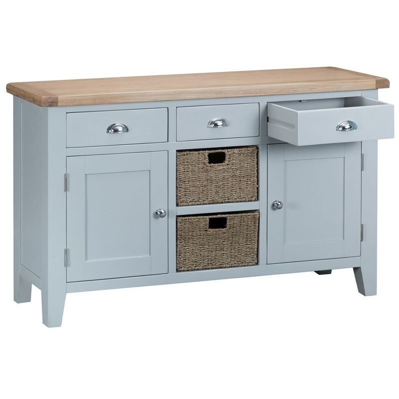 Lighthouse Sideboard Grey & Oak 2 Door 3 Drawer