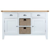 See more information about the Lighthouse Oak Top 2 Door 3 Drawer Large Sideboard White