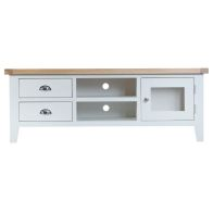 See more information about the Lighthouse Oak Top 2 Drawer Large TV Cabinet White