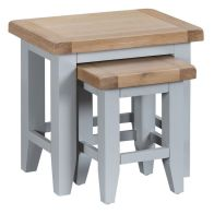 See more information about the Lighthouse Duo Nest of Tables Grey & Oak