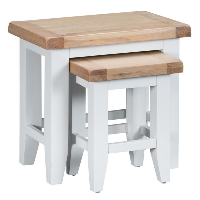 Lighthouse Duo Nest of Tables Oak & White