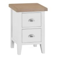 See more information about the Lighthouse Oak 2 Drawer Small Bedside Table White