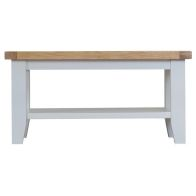 See more information about the Lighthouse Small Coffee Table Grey & Oak 1 Shelf