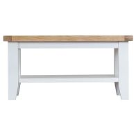 See more information about the Lighthouse Oak Top Small Coffee Table White