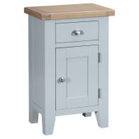 See more information about the Lighthouse Small Cabinet Grey & Oak 1 Door 1 Drawer