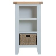 See more information about the Lighthouse Small Narrow Bookcase Grey & Oak 3 Shelf