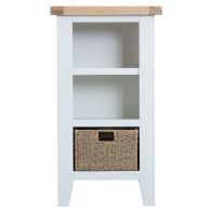 See more information about the Lighthouse Oak Top Small Narrow 3 Shelf Bookcase - White
