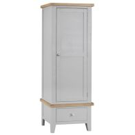 See more information about the Lighthouse Wardrobe Grey & Oak 1 Door 1 Drawer