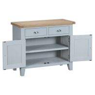 See more information about the Lighthouse Sideboard Grey & Oak 2 Door 2 Drawer