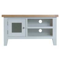 See more information about the Lighthouse Oak Top 1 Door 2 Shelf TV Unit - Grey