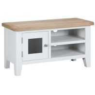 See more information about the Lighthouse TV Unit Oak & White 1 Door 2 Shelf